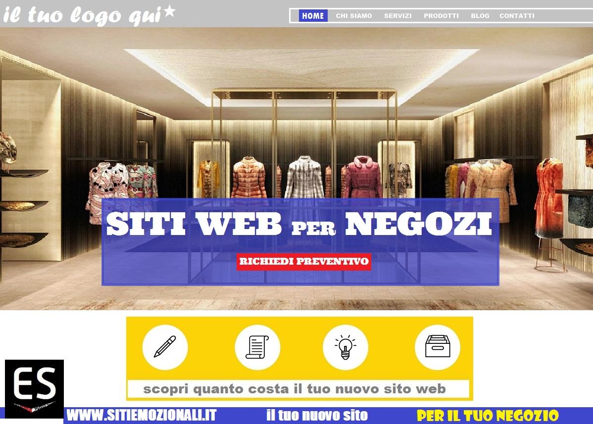 realizzazione siti web negozi